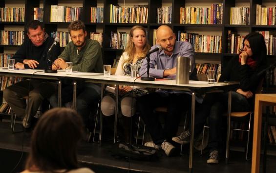 Panelet: Kai Kverme, Sebastian Stein, Elisabeth Granli Ghantous, Anders Sømme Hammer og Francesca Borri.